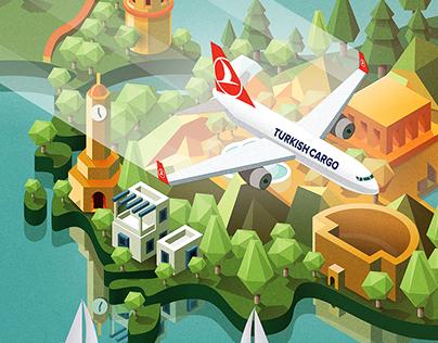 Turkish Cargo / Domestic Flights Print Ad&Illustration