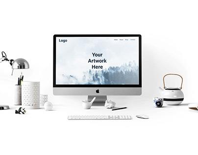 Free iMac Pro PSD Mock-Up