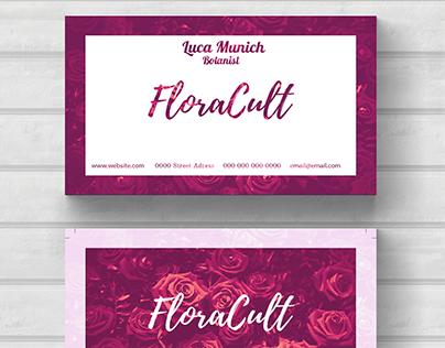 Flora botanist business card