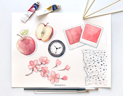 O Boticário Watercolor Paintings