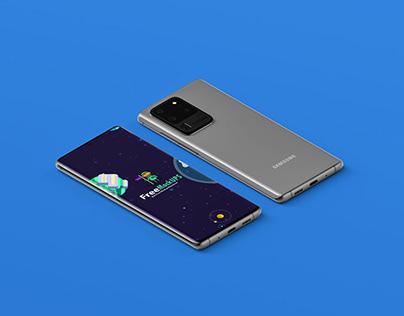 Samsung Galaxy S20 Ultra Mockup PSD