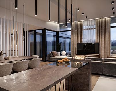 Bulgaru living room CGI