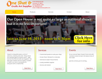 One Shot & Grafic Art Supplies website redesign
