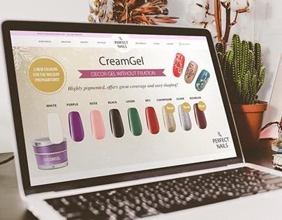Web shop development - Perfect Nails