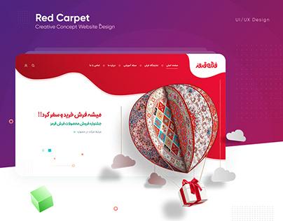 Red Carpet Landing Page Website UI/UX Design