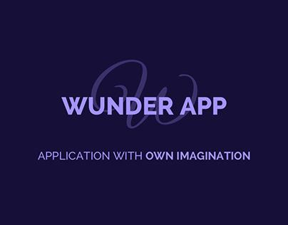 Wunder App - Photo Editor Concept