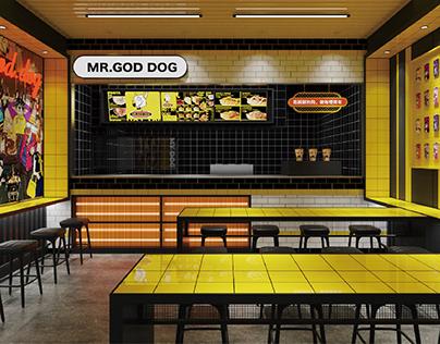 哈喽设计 | MR.GOD DOG 餐饮品牌空间设计
