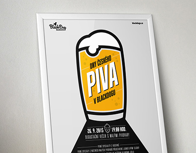 Plakát Dny českého piva