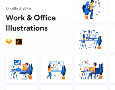 Work & Office Illustrations