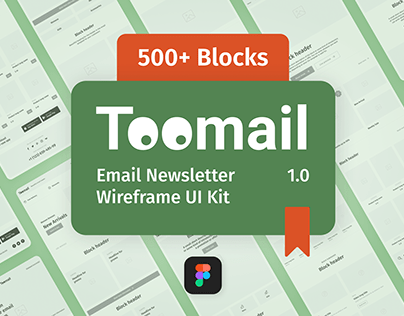 Toomail Wireframe UI Kit