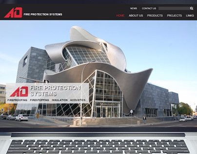 AD Fire Protection System Website Redesign