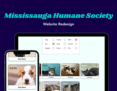 Mississauga Humane Society Website Redesign
