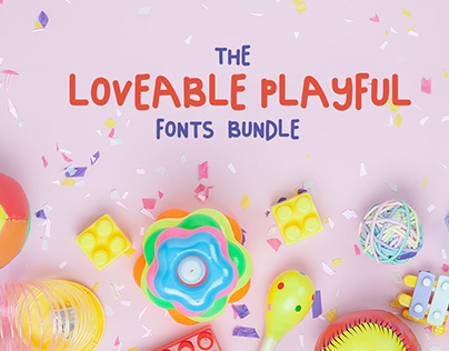 The Loveable Playful Fonts Bundle