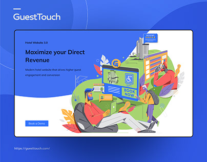 GuestTouch Website- UI Design Elements