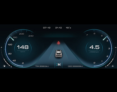 Simple and fashionable style car dashboard design