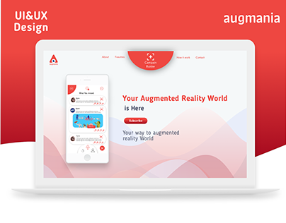 augmania for augmented reality @website(UI-UX Design)