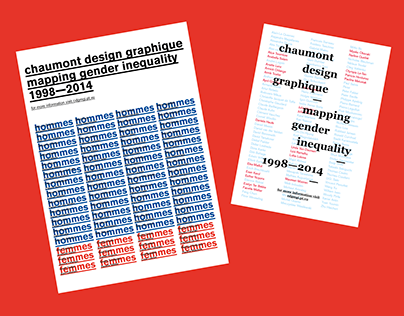 Mapping Gender Inequality in Chaumont Design Graphique