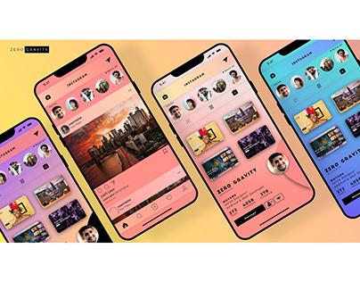 Instagram UI Redesigned Concept