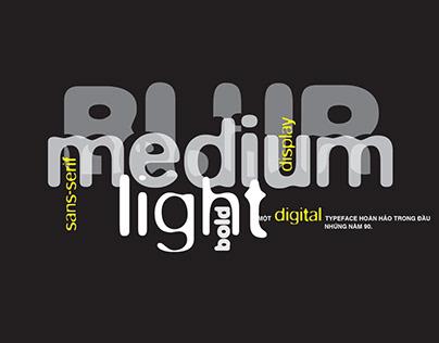 Blur typeface artbook & motion