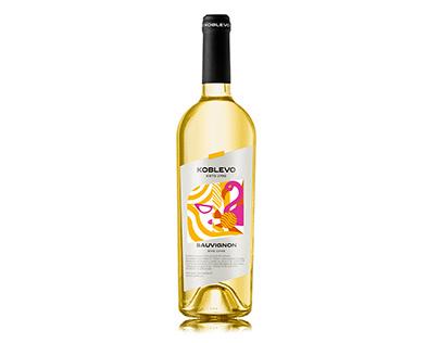 white wine bottle label