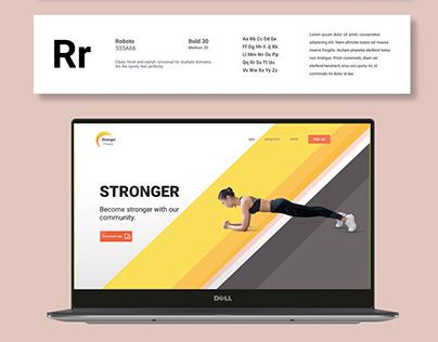STRONGER Fitness App UI Design