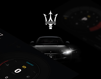Concept design car dashboard (UI Maserati)