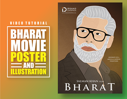 Bharat Movie Poster Design and Making Video Tutorial