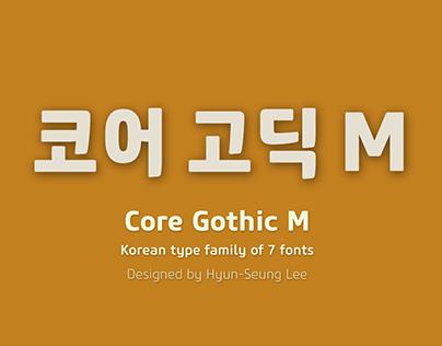Core Gothic M_Korean Type Family (7 Fonts)