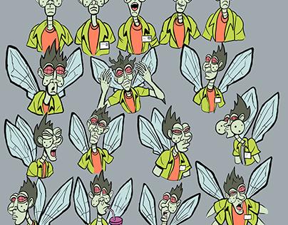 Character Design Fly Mutant Cameraman
