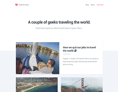 Geeks & Places | Branding & Blog Website