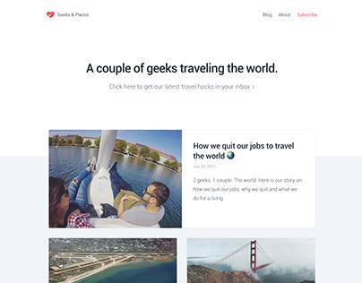 Geeks & Places | Branding & Blog Website