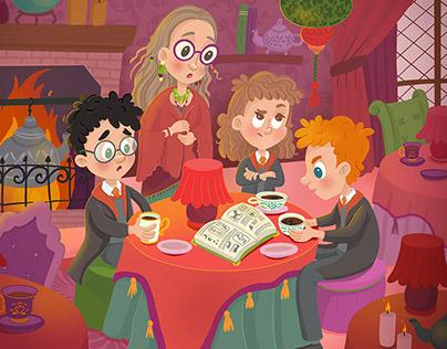 Harry Potter fan art illustrations