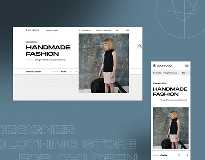 HOLYWOOD | Website design for a clothing brand