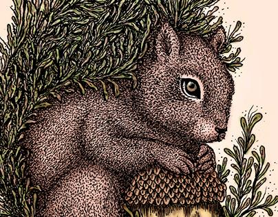 Squirrel Totem / Tótem Ardilla