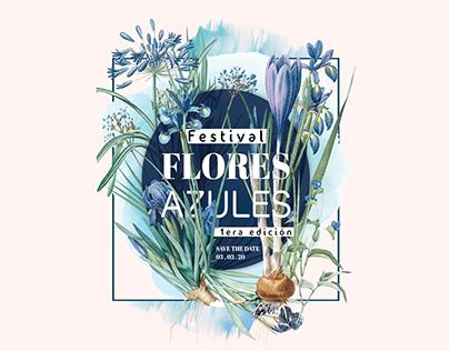Poster Design   Blue Flowers