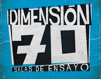 Logo para Dimensión 70, salsas de ensayo