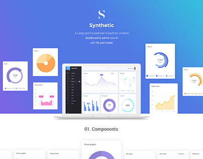 Synthetic Admin Dashboard UI Kit