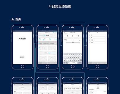 美食云集app 产品交互原型图Food gathered app product interactive pr