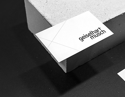 Concise brand design for an architectural office
