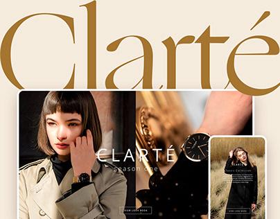 Clarté - Brand Style & Online Store UX/UI