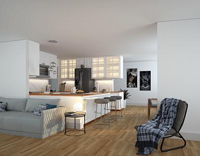 Kitchen cum Living room