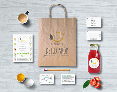 "Printed products for Detox Shop ""Freshniza"""