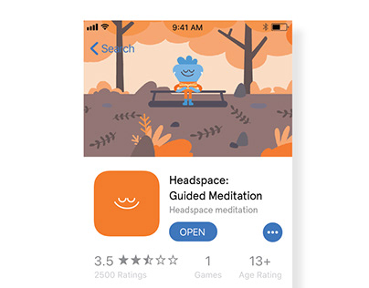 Headspace Facelift - on Apple App Store