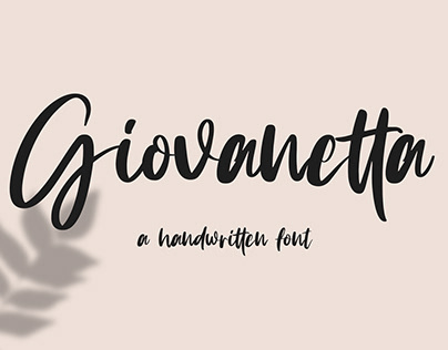 Giovanetta Handwritten Font