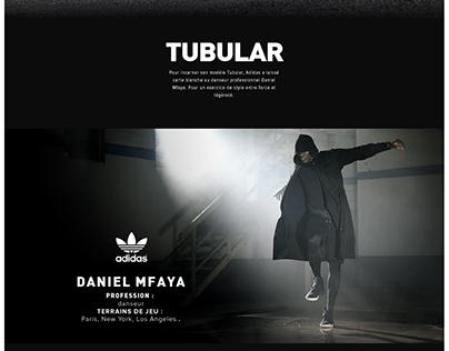 Adidas Tubular with Daniel Mfaya
