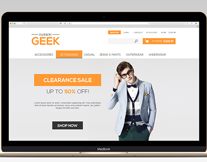 Fashion Geek / Web Design