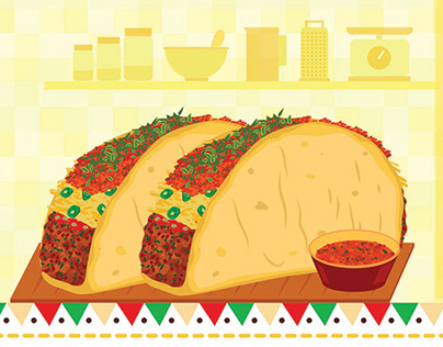 Taco Recipe Illustration