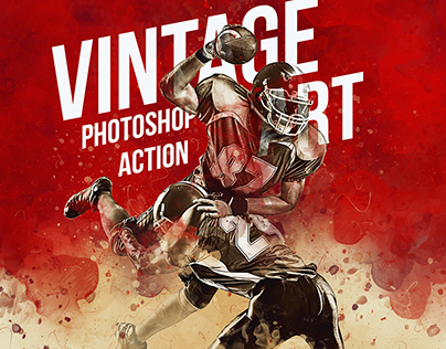 Vintage Art Photoshop Action