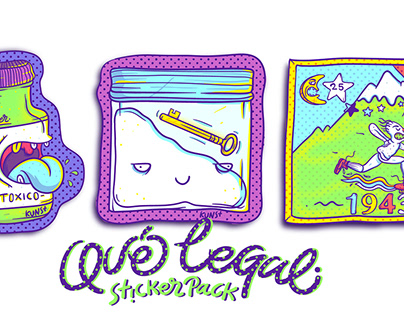 "QUÉ LEGAL ""Sticker Pack"""