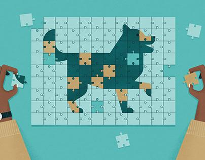 June Insights Puzzle Illustration / Quanta